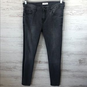 ZARA Gray Stone Washed Skinny Jeans